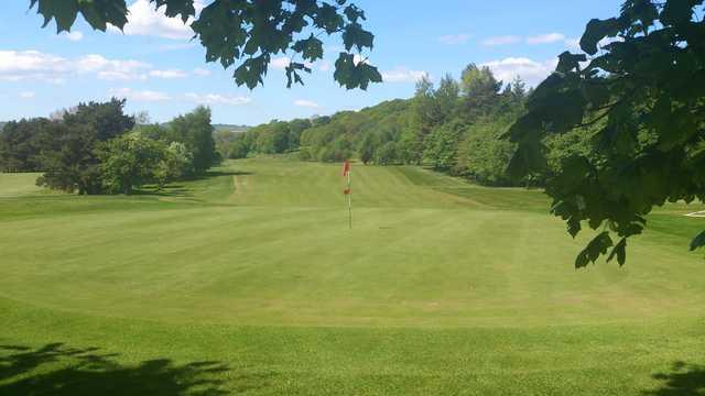 18th green at Keighley Golf Club