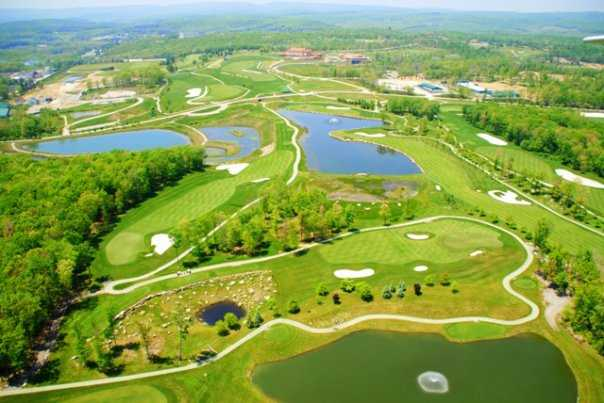Aerial view of the Mystic Rock Course at Nemacolin Woodlands Resort