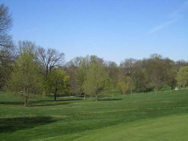 A view from green #12 towards holes 10, 11 and 13