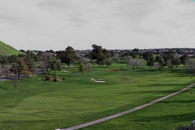 A view of a fairway at Lone Tree Golf Course