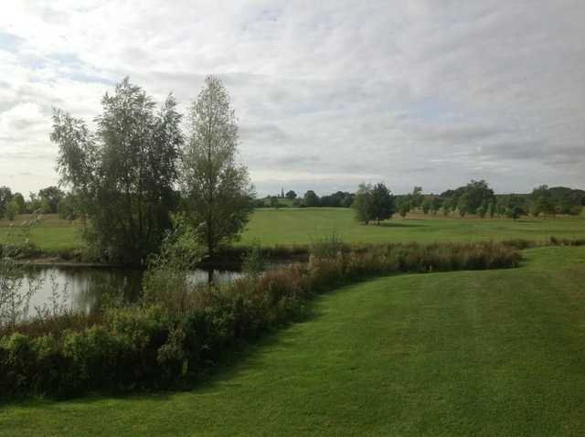 One of Stoke Albany's water hazards on the 18th