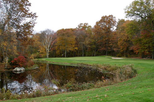 A fall view of a green at Black Hall Club