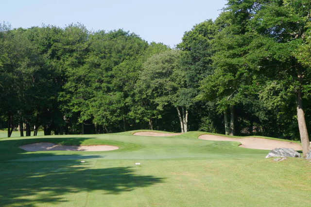 A view of the 13th green at Black Hall Club
