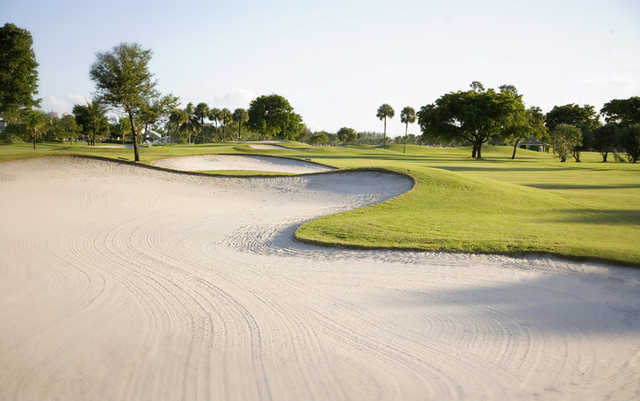 A view of a fairway at Coral Ridge Country Club
