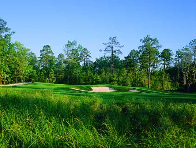 View of a bunkered green at Eagle's Pointe Golf Club