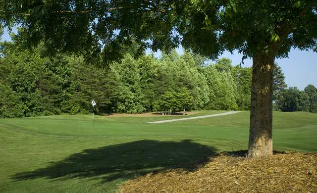 A view of green #2 from West at Grandover Resort