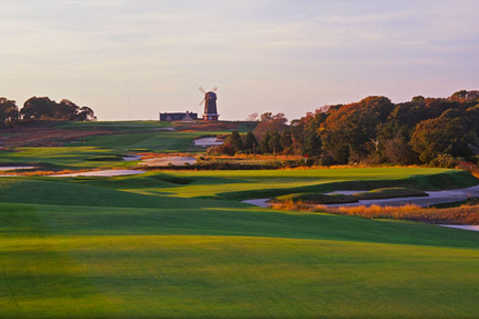 A view from a fairway at National Golf Links of America