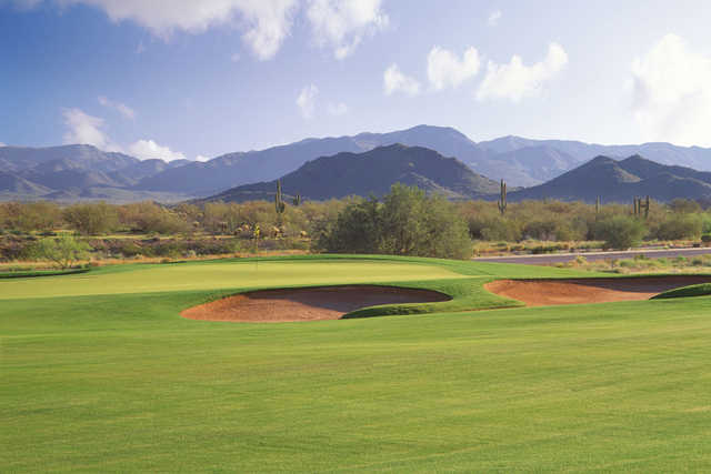 View of the par-4 5th hole at Dove Valley Ranch Golf Club