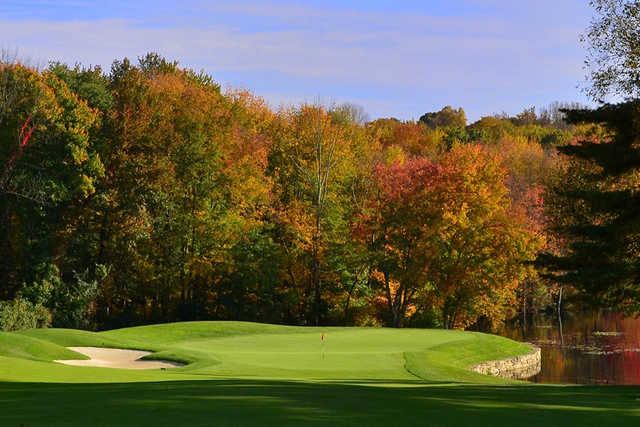A view of a green at Rockrimmon Country Club