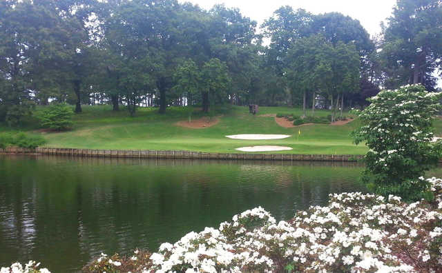 A view of the 8th green at Turtle Point Yacht & Country Club