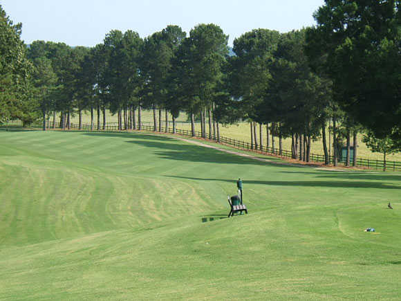 A view of the 17th fairway at Turtle Point Yacht & Country Club