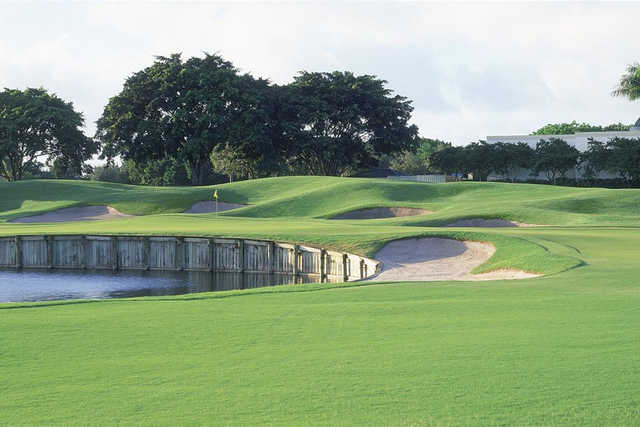 A view of a green at Weston Hills Country Club