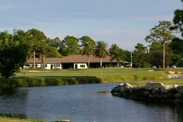 A view over the water from New Smyrna Beach Golf Course