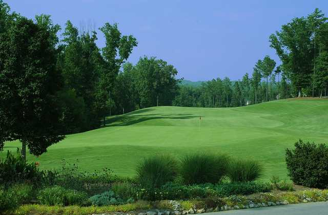 Lookiing back from a green at Neuse Golf Club