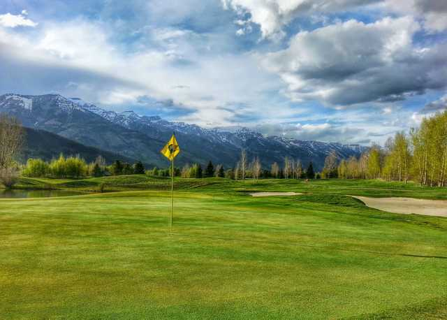 A spring view of hole #3 at Teton Pines Country Club & Resort