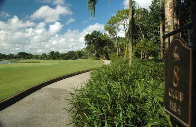 A view of tee #8 at Club Course from The Club Pelican Bay