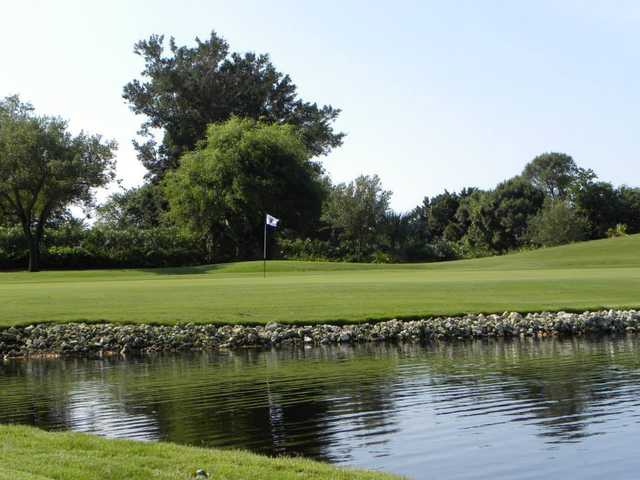 A view over the water of a hole at The Club Pelican Bay