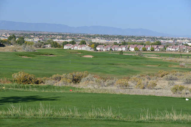 A view from a tee at Walking Stick Golf Course