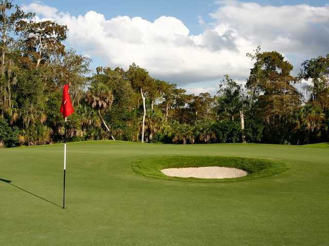 A view of a hole at Wilderness Country Club