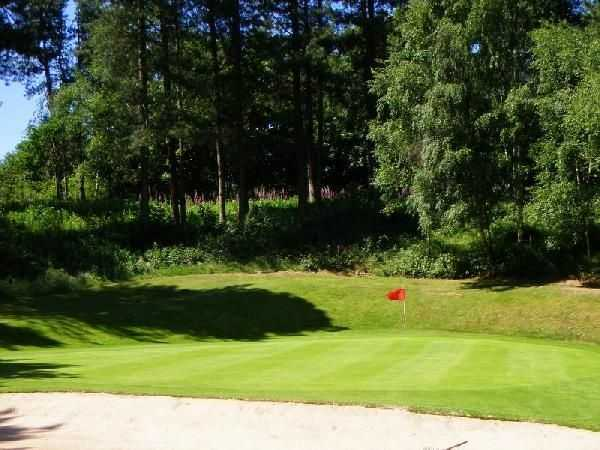 View of a green at The Staffordshire Golf Club
