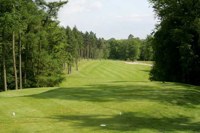 Looking down the 12th fairway on the Palmerston Course at The Melbourne Golf Club at Brocket Hall