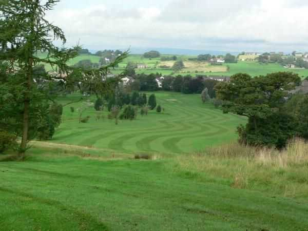 View down one of the fairways from Blackburn GC