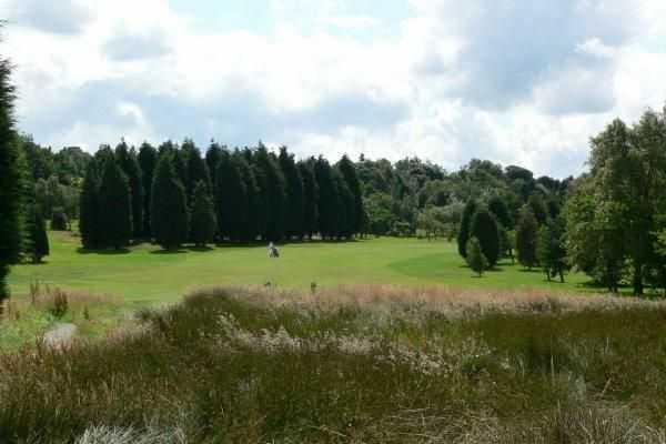 Tree lined fairway at Blackburn GC
