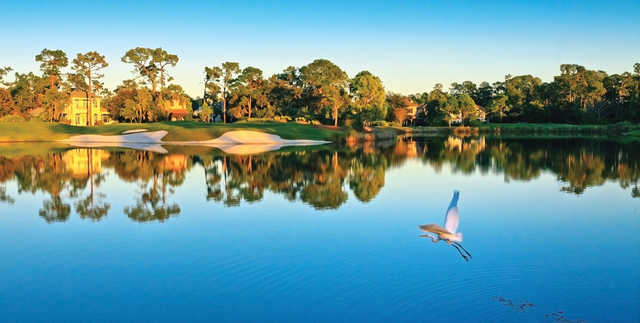 A view over the water from Lake Nona Golf & Country Club