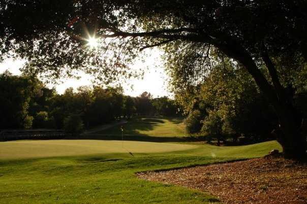 A sunny view from Greenhorn Creek Golf Course