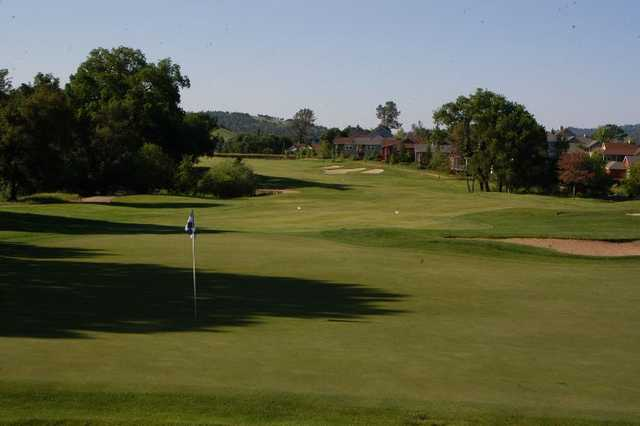 A view of the hole #9 at Greenhorn Creek Golf Course
