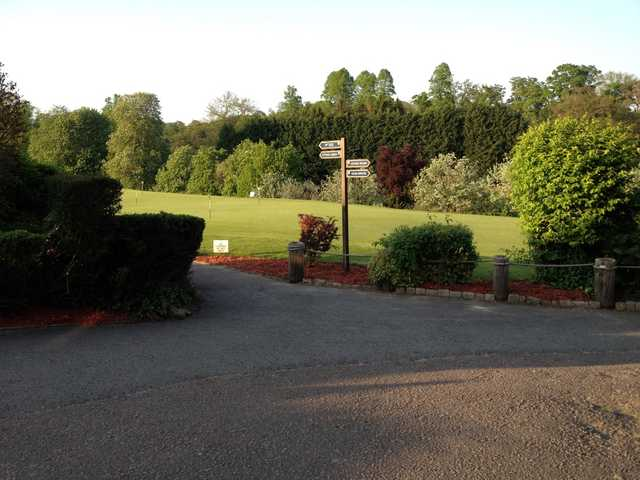 The putting green at Harleyford Golf Club