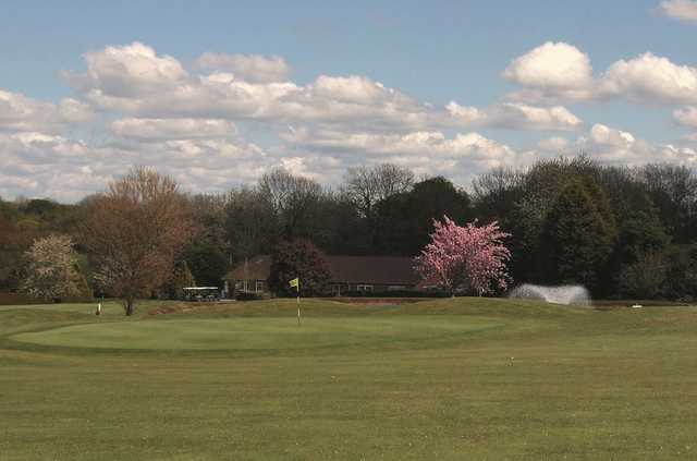 The clubhouse overlooking the course at the West Berkshire Golf Club