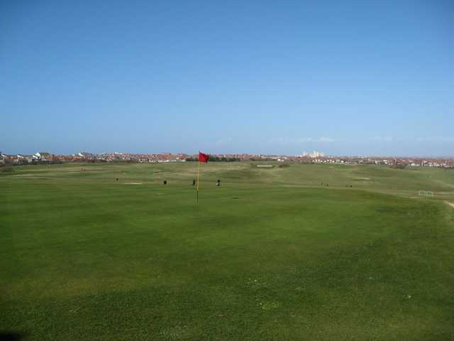The 18th green on the Blackpool North Shore Golf Course
