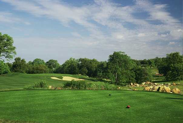 A view of the 12th green at Ridge Golf Course