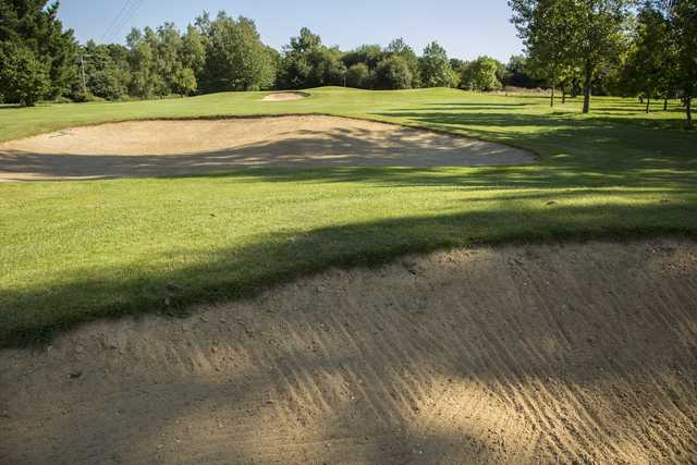 Inside the bunkers at Crane Valley Golf Course