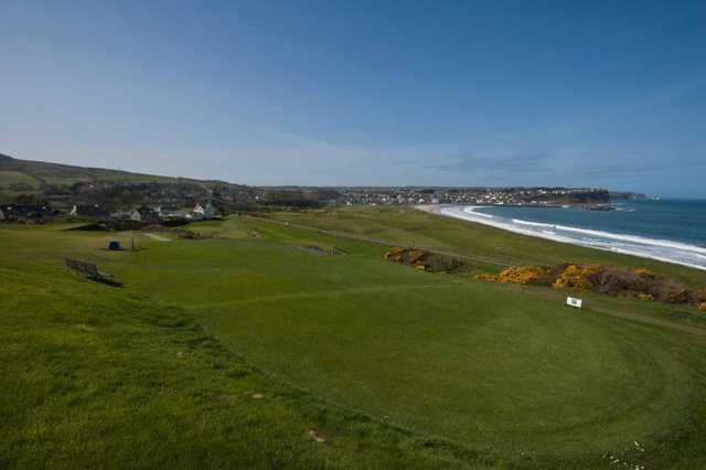 The elevated 17th at Ballycastle