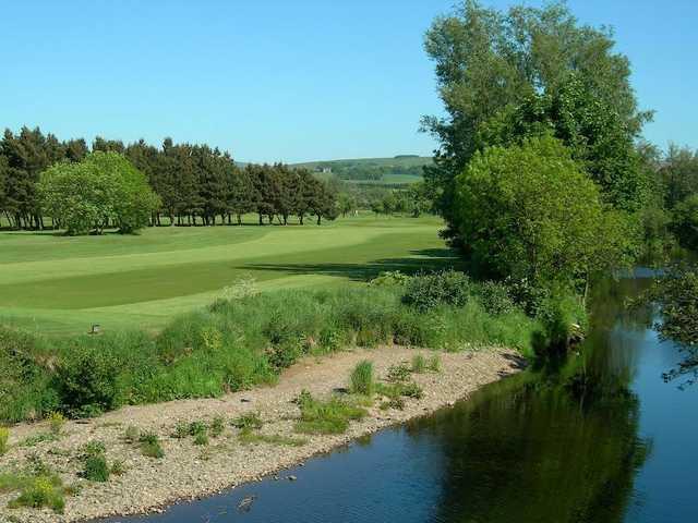 Narrow fairway on the 1st at Ballycastle Golf Club