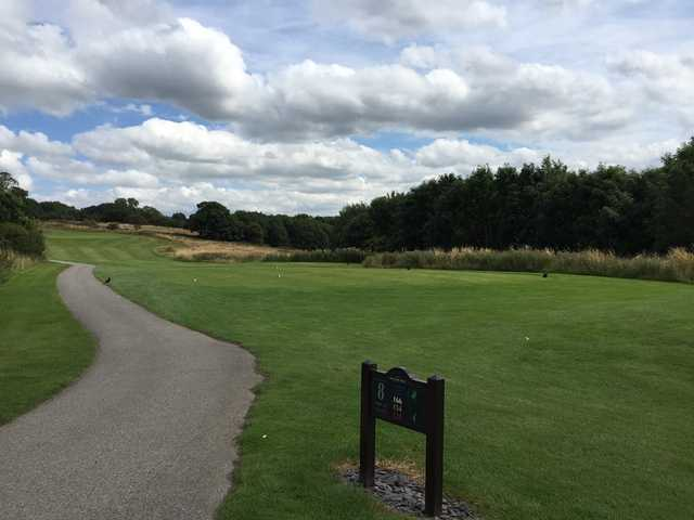 The 8th hole of Hollins Hall Golf Course