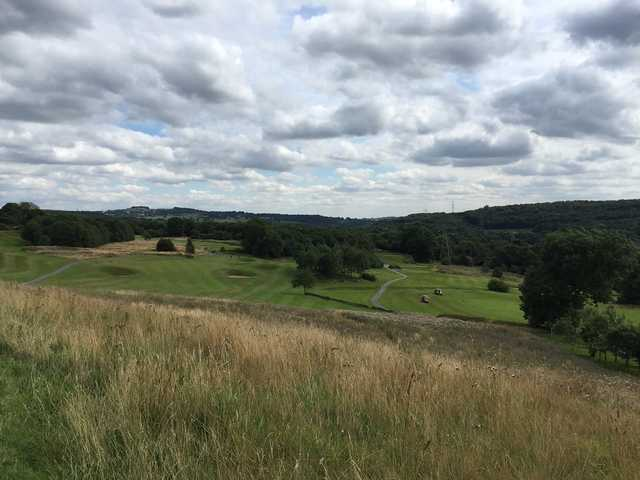 A view of Hollins Hall greens and bunkers
