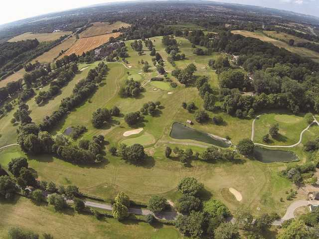 Aerial view from Donnington Valley