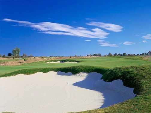 A view of the 10th hole at Ridge Creek Dinuba Golf Club