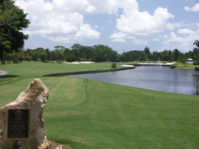 View from the 18th tee at Palm Beach National Golf Course