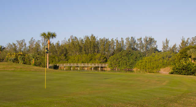 View from a green at Sanibel Island Golf Club