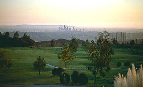 A view from Scholl Canyon Golf & Tennis Club