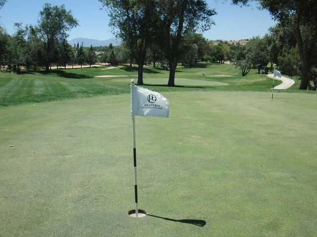 A view from Hesperia Golf & Country Club with narrow path in background