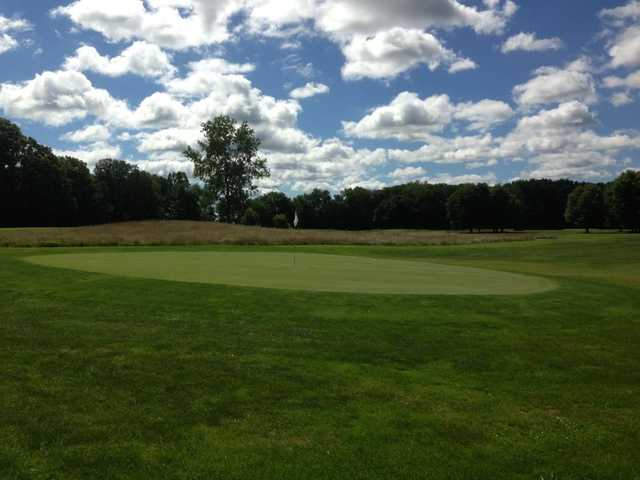 A view of a green at Woodbury Golf Course