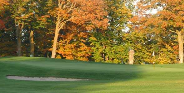A view of a hole at Alpena Golf Club