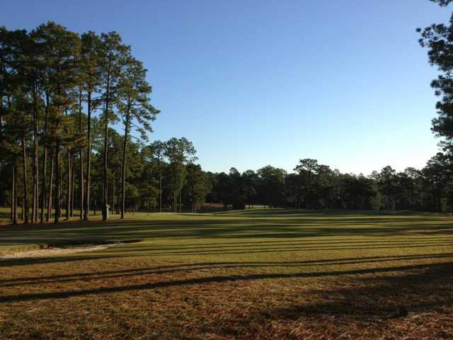 A view of a hole at Leesville Golf Course
