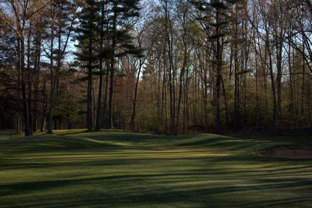 A view of the 1st green at Quail Hollow Country Club