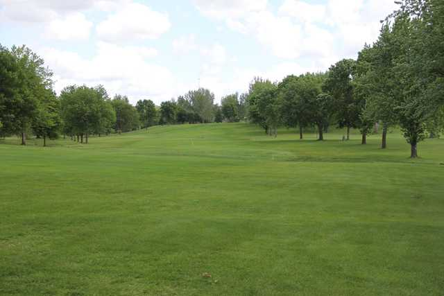 A view of a fairway at Granite Run Golf Course